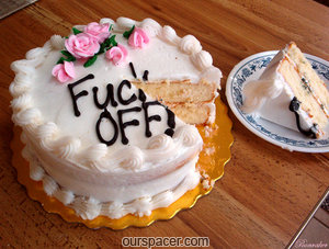 fuck off birthday cake myspace, friendster, facebook, and hi5 comment graphics
