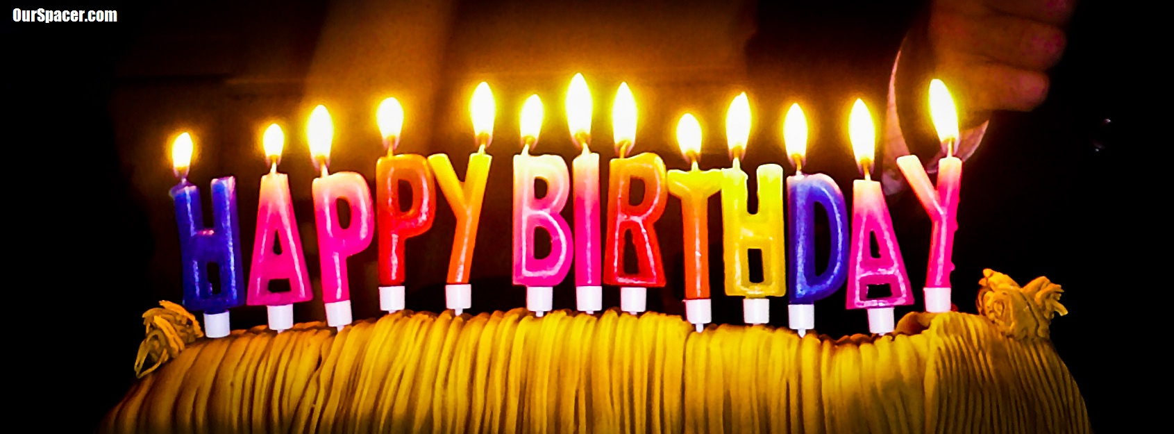 happy birthday letter candles myspace, friendster, facebook, and hi5 comment graphics