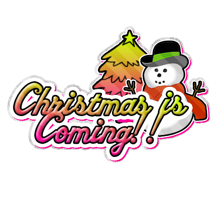 christmas is coming no glitter myspace, friendster, facebook, and hi5 comment graphics
