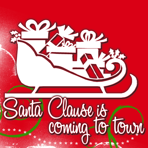 santa clause is coming to town graphics