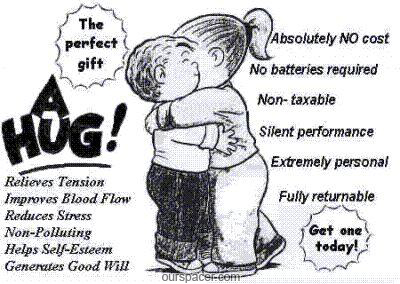 The perfect gift a hug myspace, friendster, facebook, and hi5 comment graphics