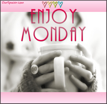 Sipping morning coffee, enjoy Monday myspace, friendster, facebook, and hi5 comment graphics