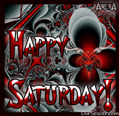 Happy devil red Saturday graphics