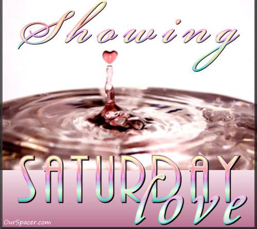 Showing Saturday love heart shaped water droplet graphics