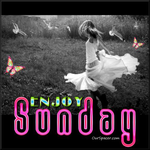 Dancing in a field of birds, enjoy Sunday graphics