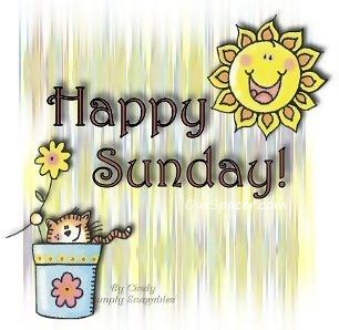 Happy sun and cat, happy Sunday myspace, friendster, facebook, and hi5 comment graphics