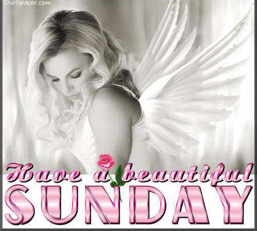 Have a beautiful Sunday gorgeous angel myspace, friendster, facebook, and hi5 comment graphics