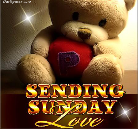 Teddy bear sending Sunday love myspace, friendster, facebook, and hi5 comment graphics
